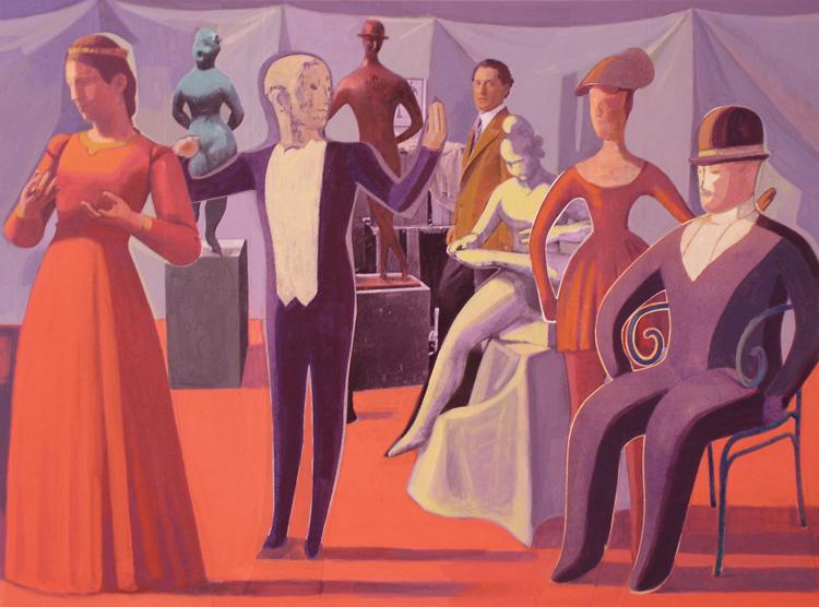 Nadelman in his Studio II