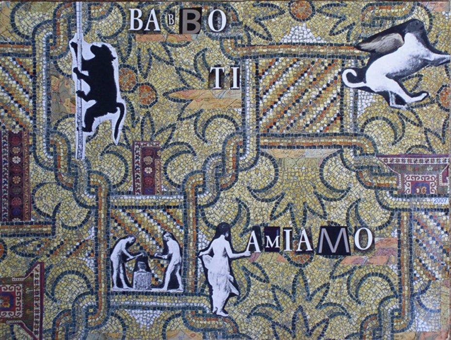<em>Babbo 2007</em>, mixed media collage