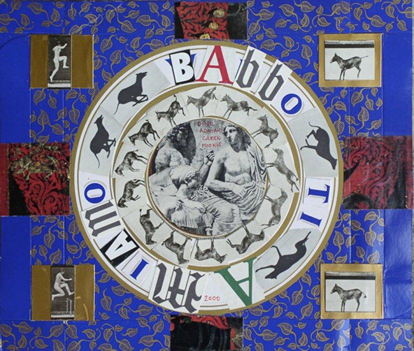 <em>Babbo 2000</em>, mixed media collage