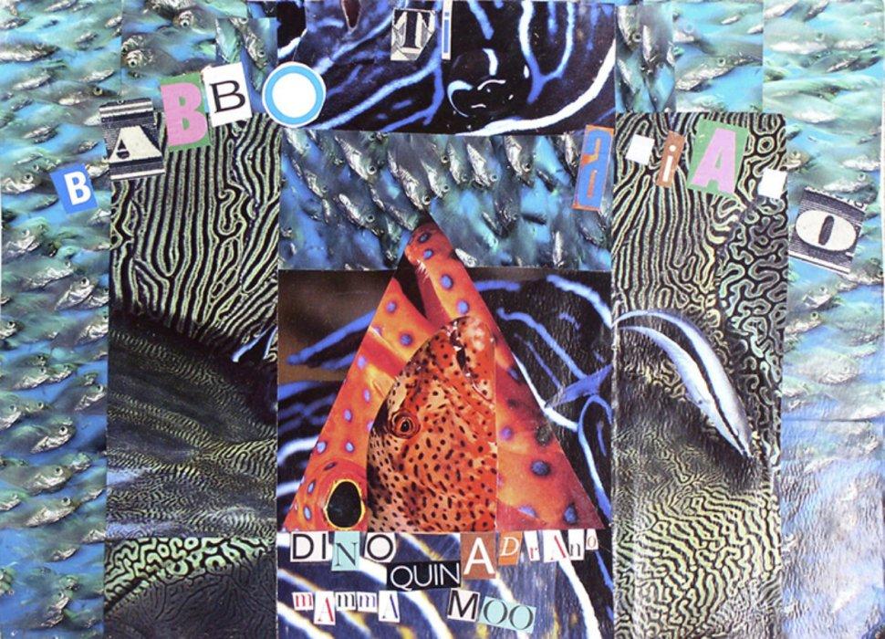 <em>Babbo 1998</em>, mixed media collage
