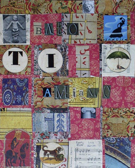 <em>Babbo 1997</em>, mixed media collage