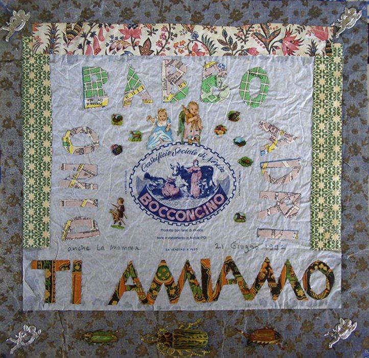 <em>Babbo 1992</em>, mixed media collage