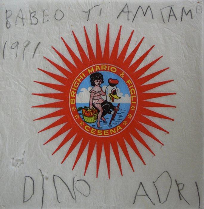 <em>Babbo, 1991</em>, mixed media collage