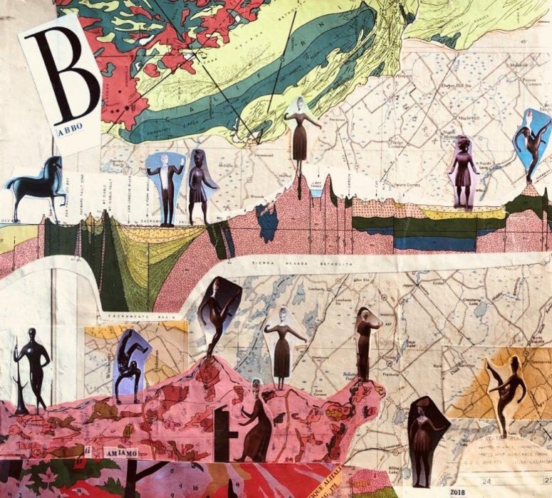 <em>Babbo 2018</em>, mixed media collage
