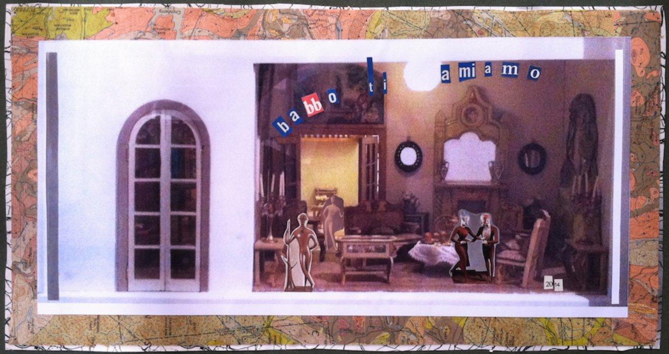 <em>Babbo 2014</em>, mixed media collage