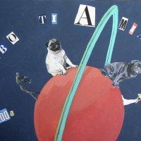 <em>Babbo 2003</em>, mixed media collage