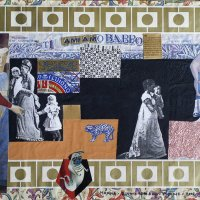 <em>Babbo 2002</em>, mixed media collage