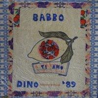 <em>Babbo, 1989</em>, mixed media collage