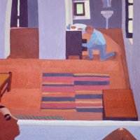 <em>Study for the Bath, 1985,</em> 10x8 inches, gouache on paper