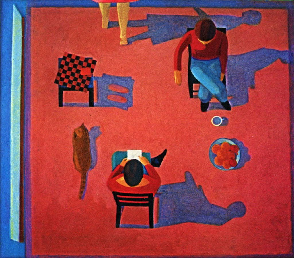 <em>Three Friends,</em> 1978, 71x81 inches, oil on canvas