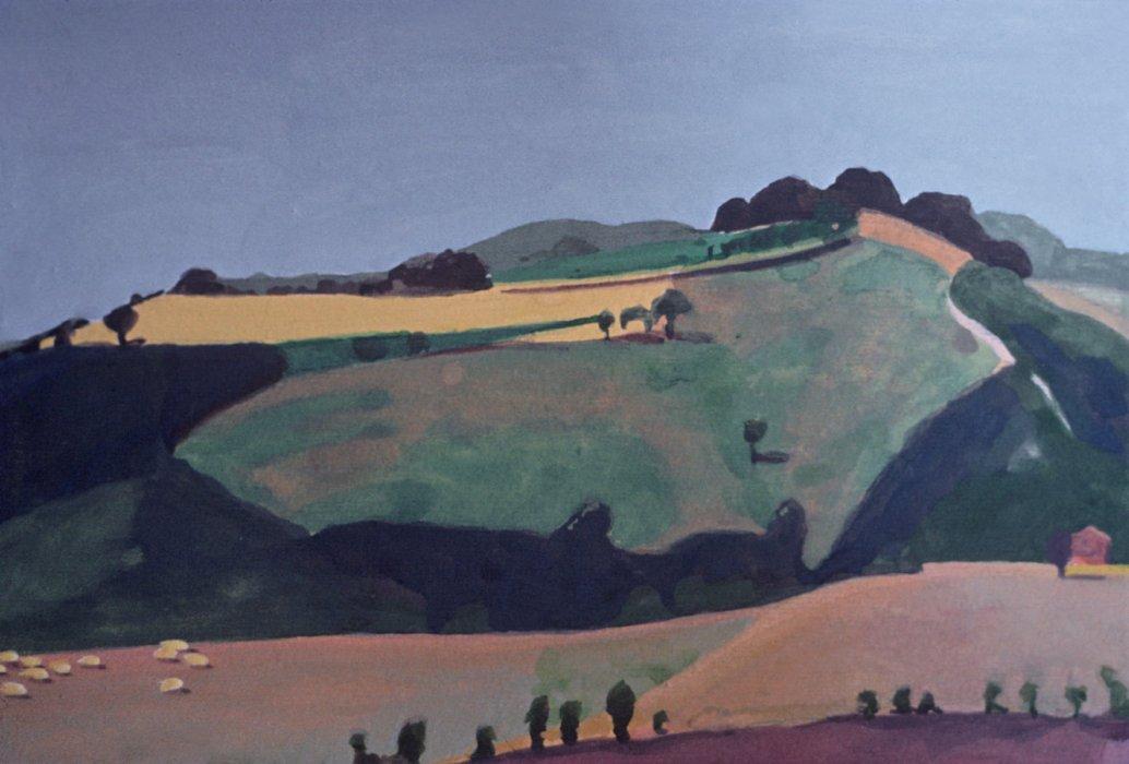 <em>Landscape Nogna,</em> 1983, 6x7 inches, gouache on paper