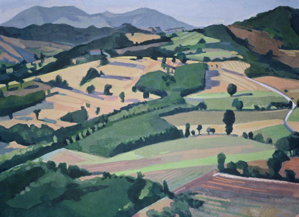 <em>Landscape Nogna,</em> 1983, 5.5x7 inches, gouache on paper