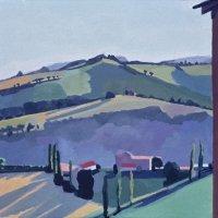 <em>Landscape Nogna,</em> 1983, 10x10 inches, gouache on paper