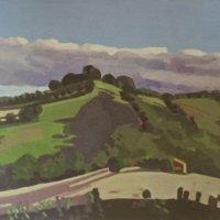 <em>Landscape Nogna,</em> 1983, 7x7 inches, gouache on paper