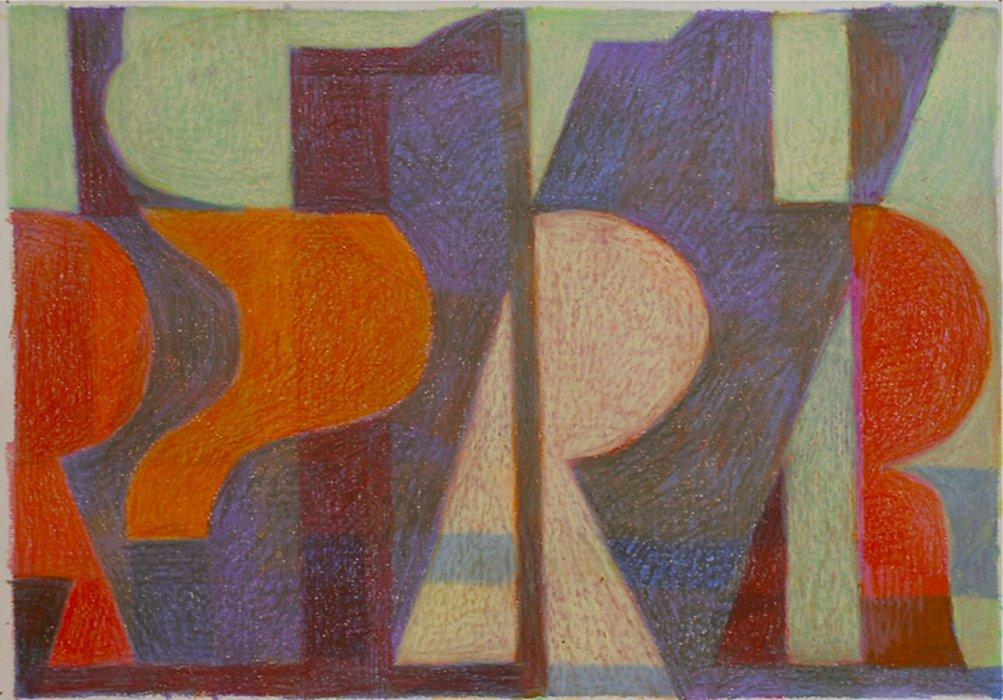 <em>&num;33,</em> 2013, 12x16 inches, oil pastel on paper