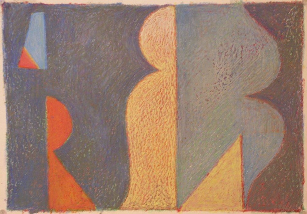 <em>&num;31,</em> 2013, 12x16 inches, oil pastel on paper