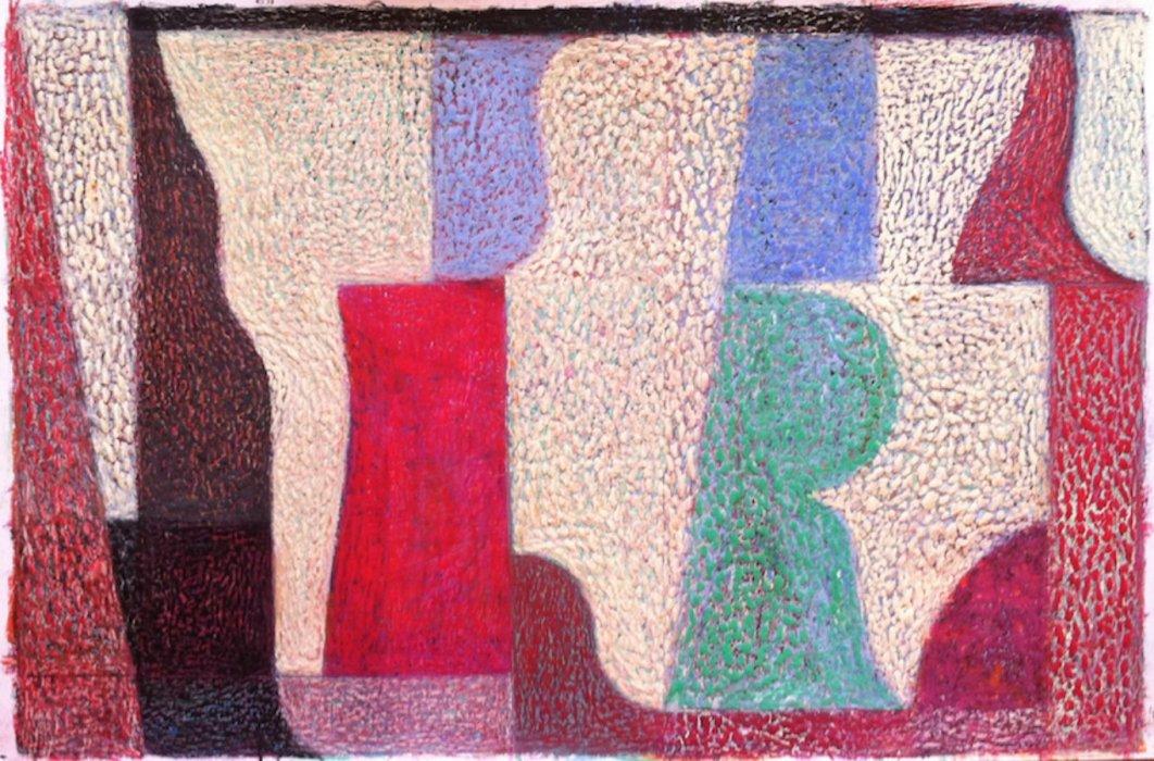 <em>&num;49,</em> 2014, 11x17 inches, oil pastel on paper