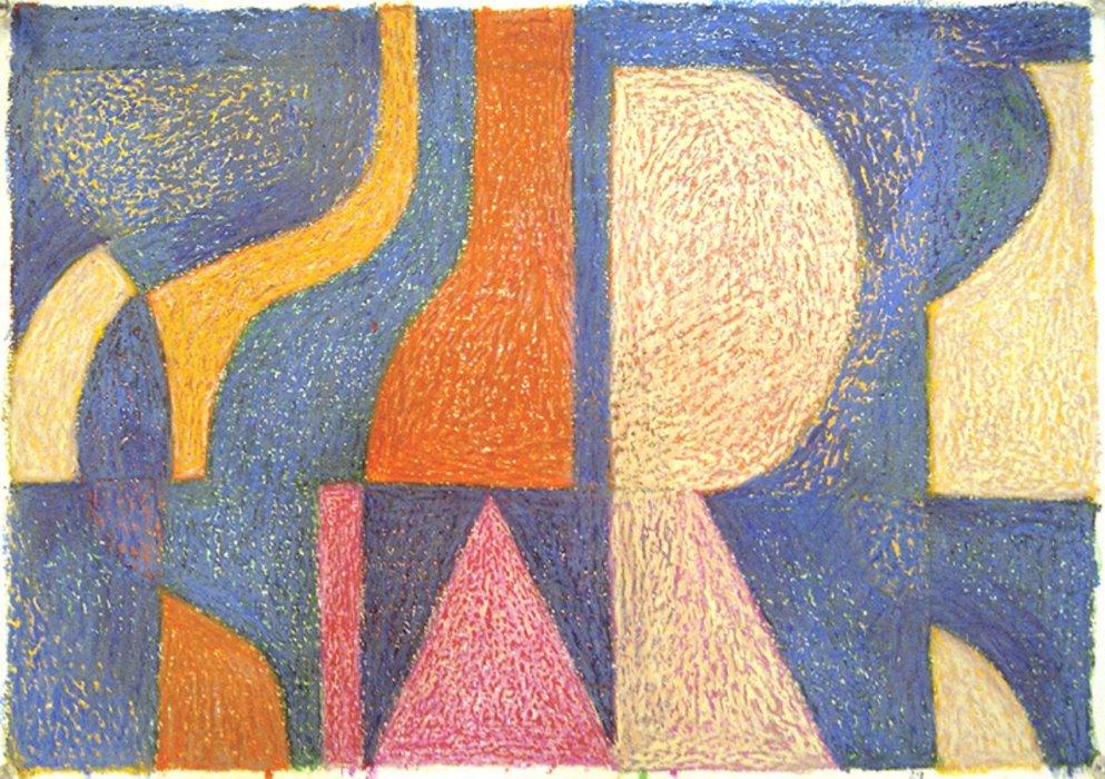 <em>&num;29</em>, 2013, 12x16 inches, oil pastel on paper