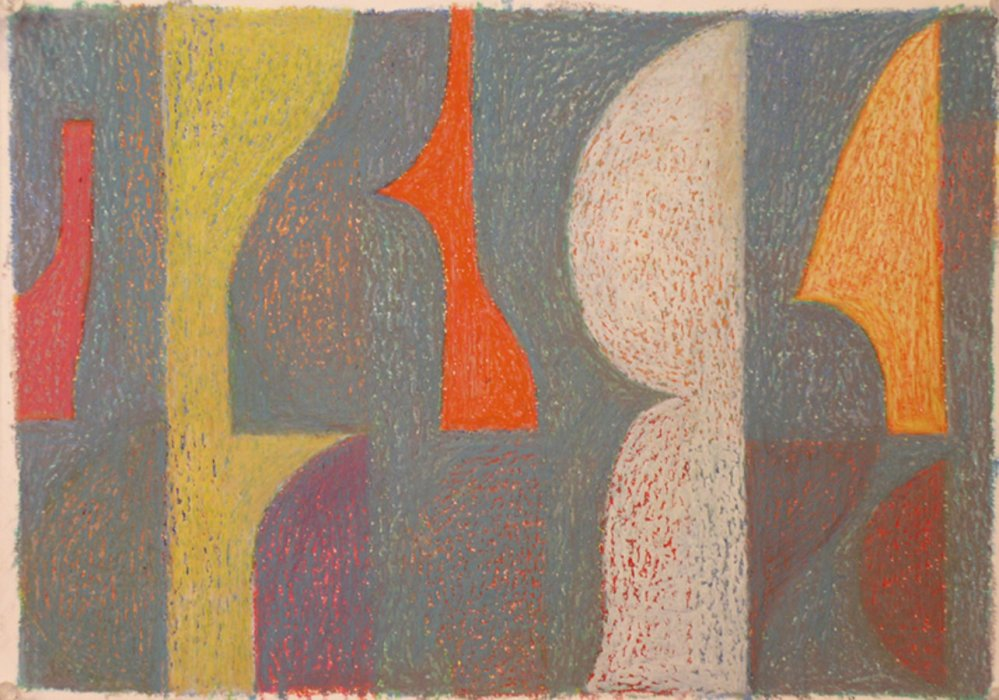 <em>&num;28,</em> 2012, 12x16 inches, oil pastel on paper
