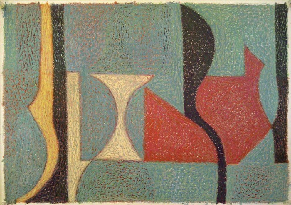 <em>&num;27,</em> 2012, 12x16 inches, oil pastel on paper