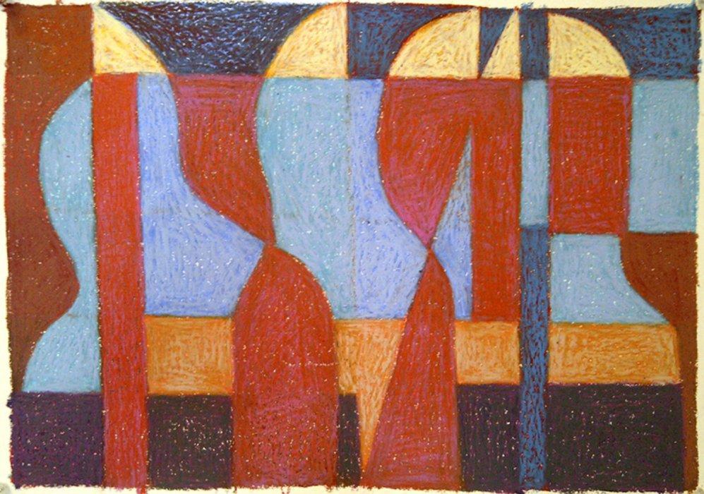 <em>&num;25,</em> 2012, 12x16 inches, oil pastel on paper