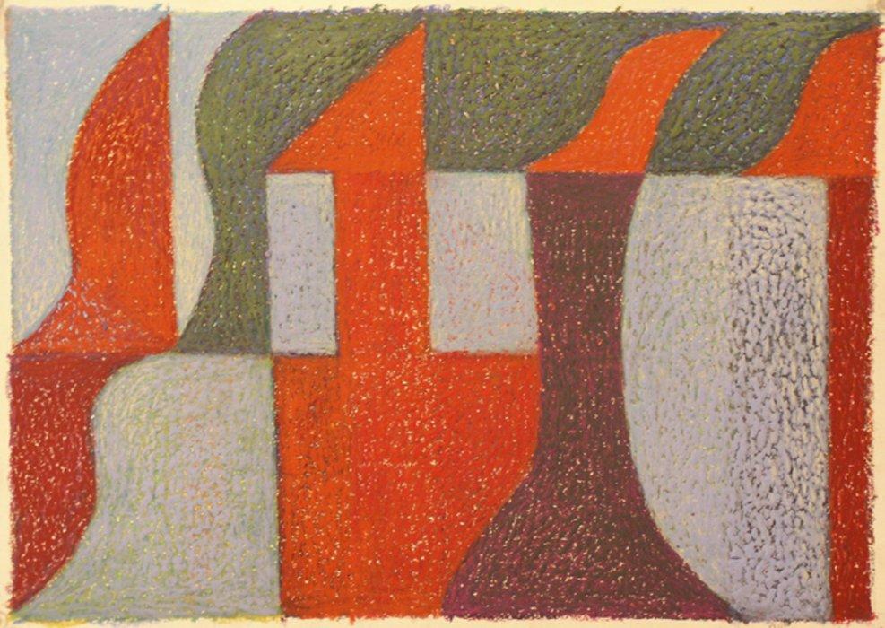<em>&num;24,</em> 2012, 12x16 inches, oil pastel on paper