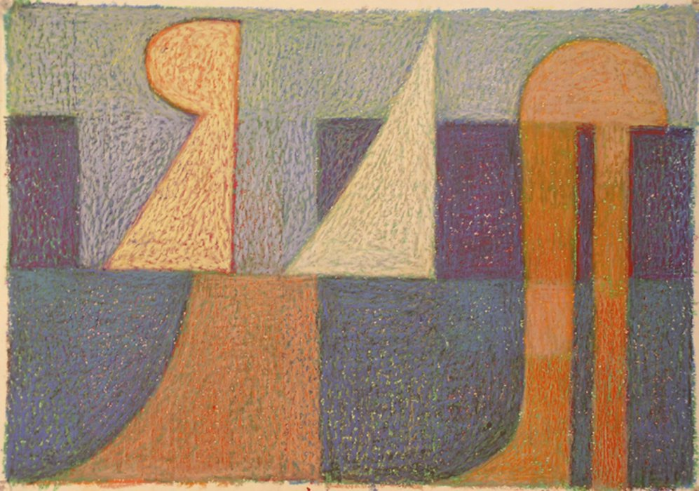 <em>&num;23,</em> 2012, 12x16 inches, oil pastel on paper