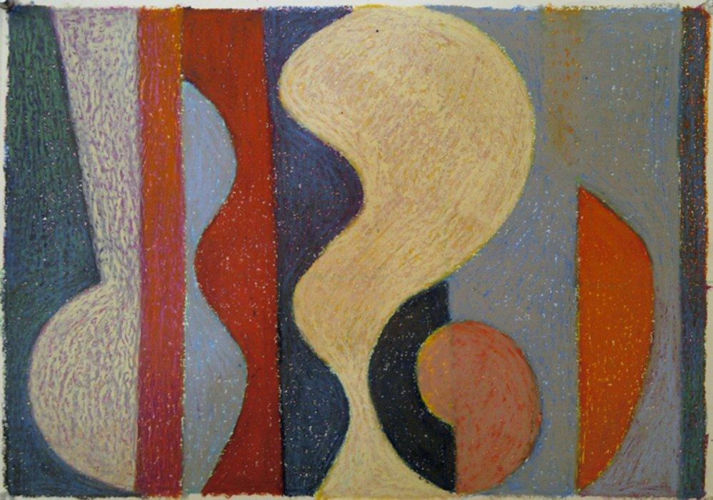 <em>&num;22, 2012, 12x16 inches, oil pastel on paper</em>