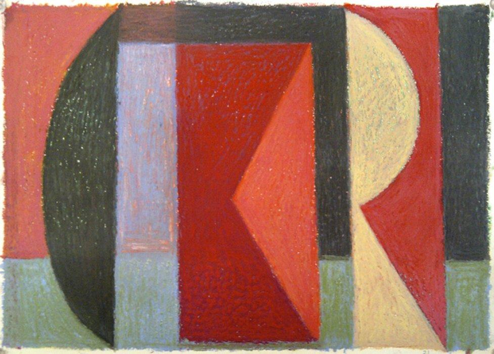<em>&num;21,</em> 2012, 12x16 inches, oil pastel on paper