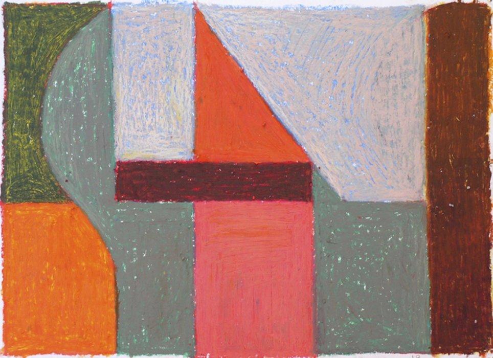 <em>&num;18,</em> 2012, 12x16 inches, oil pastel on paper