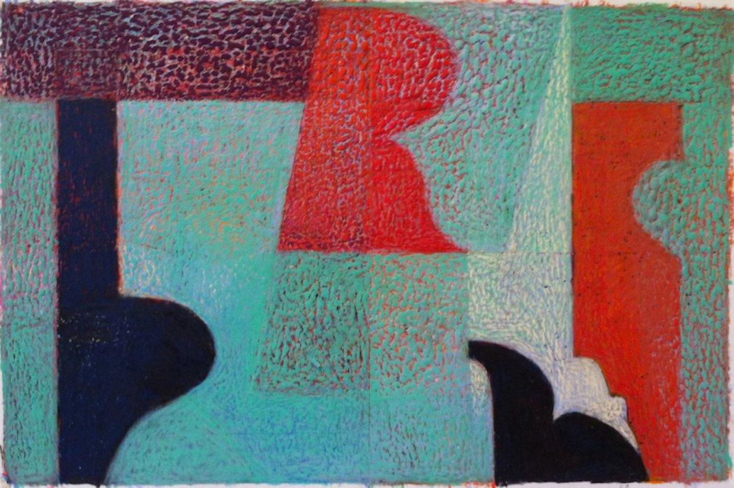 <em>&num;48,</em> 2014, 11x17 inches, oil pastel on paper