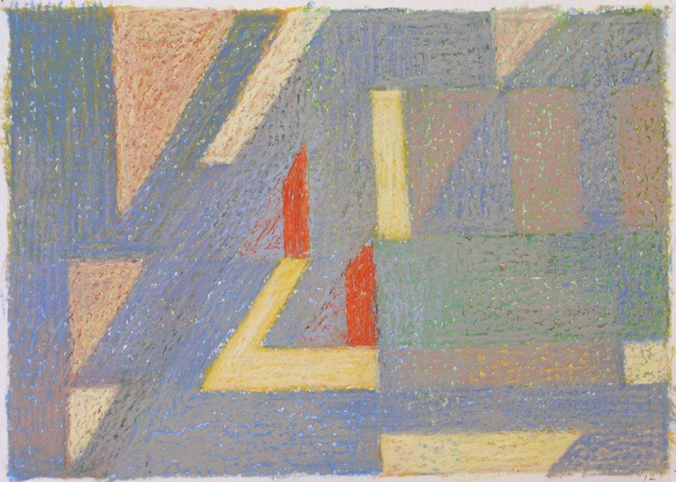 <em>&num;12,</em> 2012, 12x16 inches, oil pastel on paper