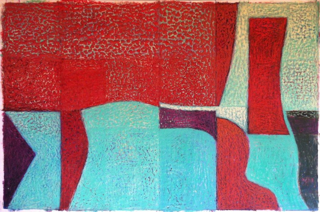 <em>&num;47,</em> 2014, 11x17 inches, oil pastel on paper