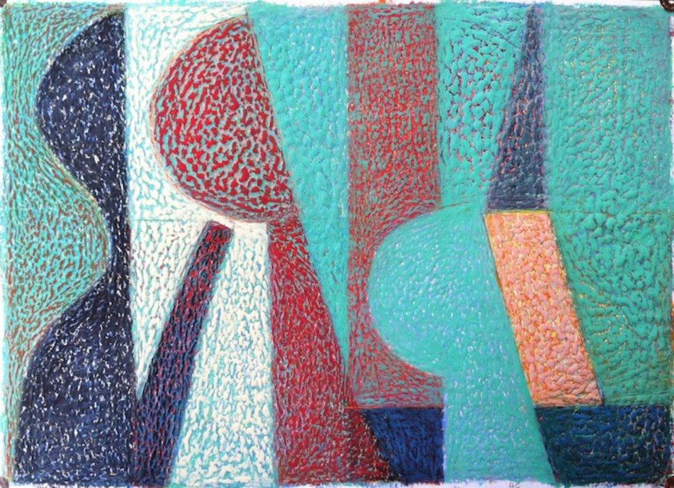 <em>&num;46,</em> 2014, 12x16 inches, oil pastel on paper