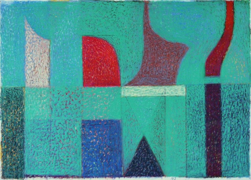 <em>&num;43,</em> 2014, 12x16 inches, oil pastel on paper