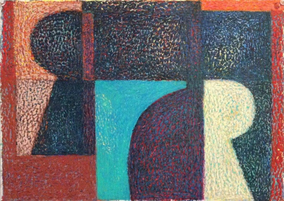 <em>&num;42,</em> 2014, 12x16 inches, oil pastel on paper