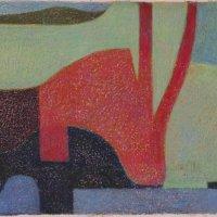 <em>&num;35</em>, 2013, 12x16 inches, oil pastel on paper