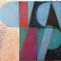 <em>&num;45,</em> 2014, 12x16 inches, oil pastel on paper
