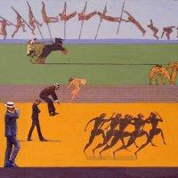 <em>Men Moving Through the Landscape,</em> 2004