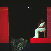 <em>Night,</em> 1986, 9.5x10.5 inches, mixed media with oil on board