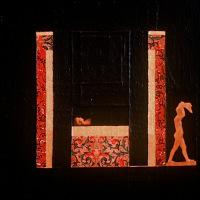 <em>Rinascimento,</em> 1980, 13.5x12 inches, mixed media with oil on cardboard