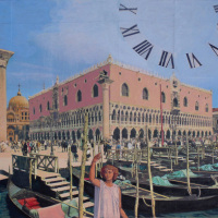 <em>The Doge's Palace,</em> 2006, 11x14 inches, mixed media with matte acrylic on panel