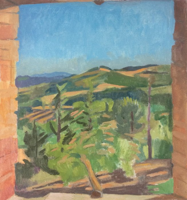 <em>Late Spring,</em> 2017, 17x16 inches, oil on canvas