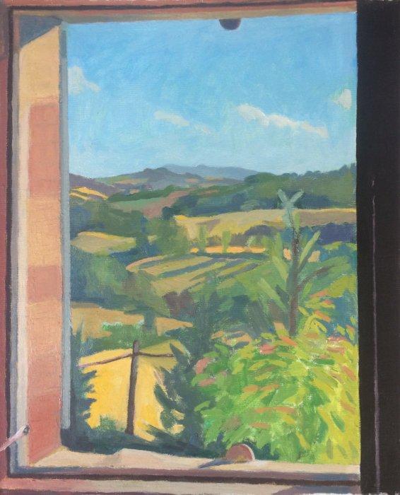 <em>High Summer,</em> 2017, 19x15.5 inches, oil on canvas