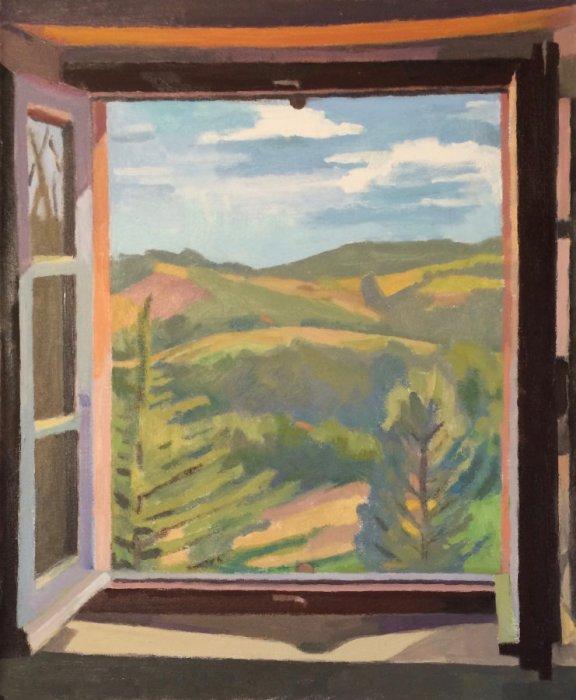 <em>Ferragosto,</em> 2017, 19x15.5 inches, oil on canvas