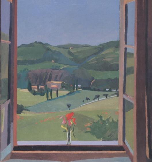 <em>da Olga with Poppies,</em> 1983, 20x18 inches, oil on canvas