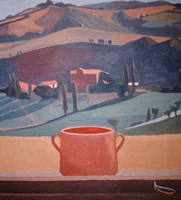 <em>Red Elipse, View of Olga's House,</em> 1984, 20x18 inches, oil on canvas
