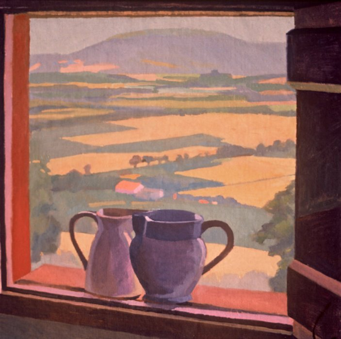 <em>Still Life, San Fortunato, View of Assisi,</em> 1982, 18x18 inches, oil on canvas