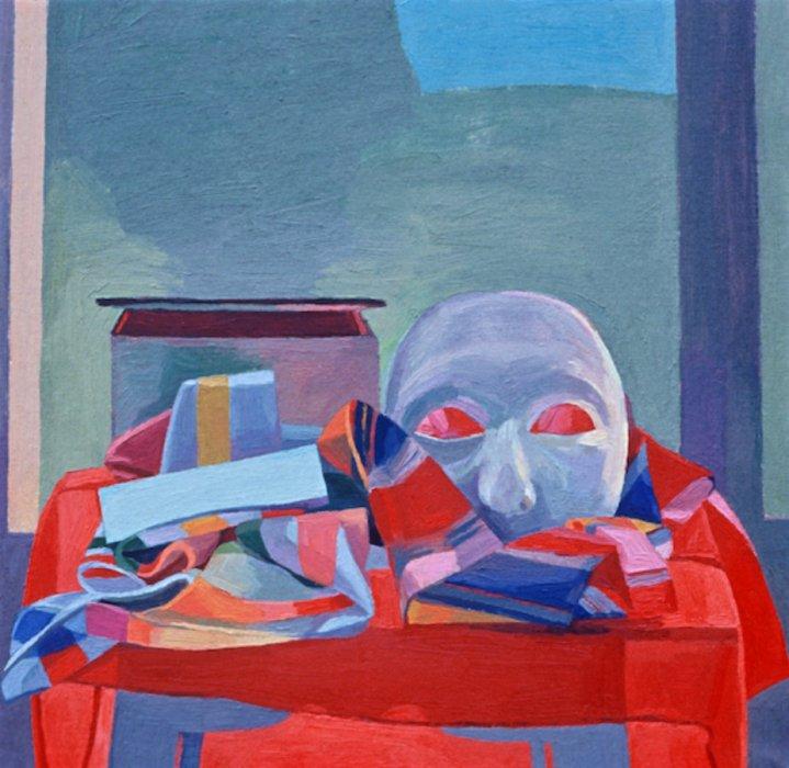 <em>Roman Still Life,</em> 1978, 22x22 inches, oil on canvas