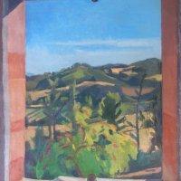 <em>Sambuco Blooms,</em> 2017, 18x16 inches, oil on canvas